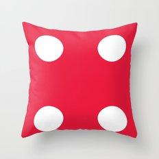 Red Dice 4 Throw Pillow