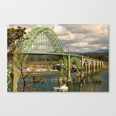 Siuslaw River Bridge, Florence, Oregon Canvas Print