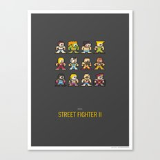 Mega Street Fighter II Canvas Print