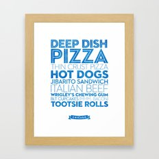 Chicago — Delicious City Prints Framed Art Print