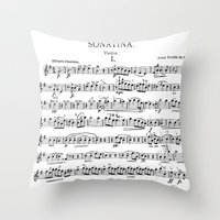 Sonatina Throw Pillow