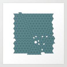 #426 Tectonic activity – Geometry Daily Art Print