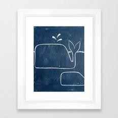 No. 006 - The Whales (Modern Kids & Nursery Art) Framed Art Print