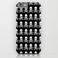 Skull And X Bones In Bla… iPhone 6 Slim Case