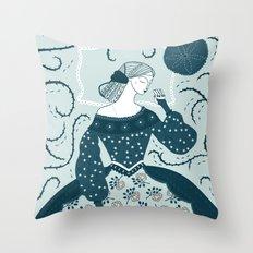 Little Briar Rose Throw Pillow