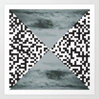 waves/grid #3 Art Print