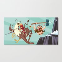 Braun Bloodstone And The… Canvas Print
