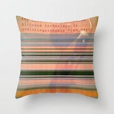 Glitch Magic Throw Pillow