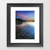 Spring Clouds Framed Art Print
