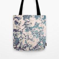 spring mediterranean almond flowers Tote Bag