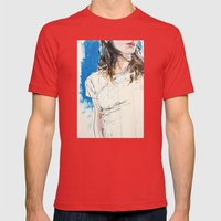 5167 Mens Fitted Tee Red SMALL