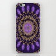 Golden Mandala (violet) iPhone & iPod Skin