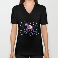 Summer Time Unicorn Fun Unisex V-Neck
