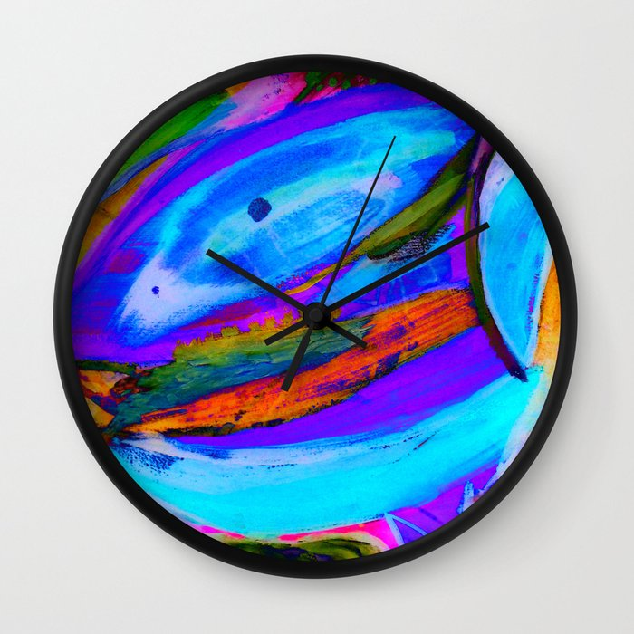 invert paint wall clock by aaron carberry society6