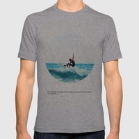 Surf Quote Mens Fitted Tee Athletic Grey SMALL