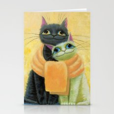 cat play Stationery Cards