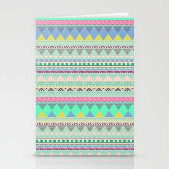 PASTEL AZTEC Stationery Card