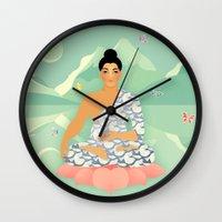 Sacred World: Blue Yogi Wall Clock