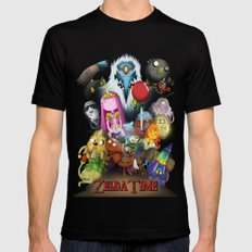 Zelda Time! Mens Fitted Tee Black SMALL