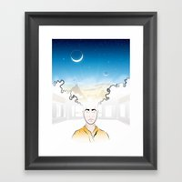 In Search Of Other Sunri… Framed Art Print