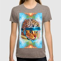 Safety First!-Lady Jasmine Womens Fitted Tee Tri-Coffee SMALL