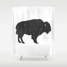 Mystic Buffalo  Shower Curtain
