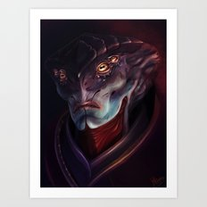 Mass Effect: Javik Art Print