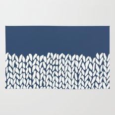 Half Knit Navy Rug