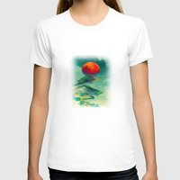 Reach The Sun! Womens Fitted Tee White SMALL