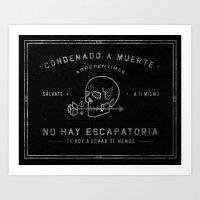Condenado A Muerte - Bla… Art Print