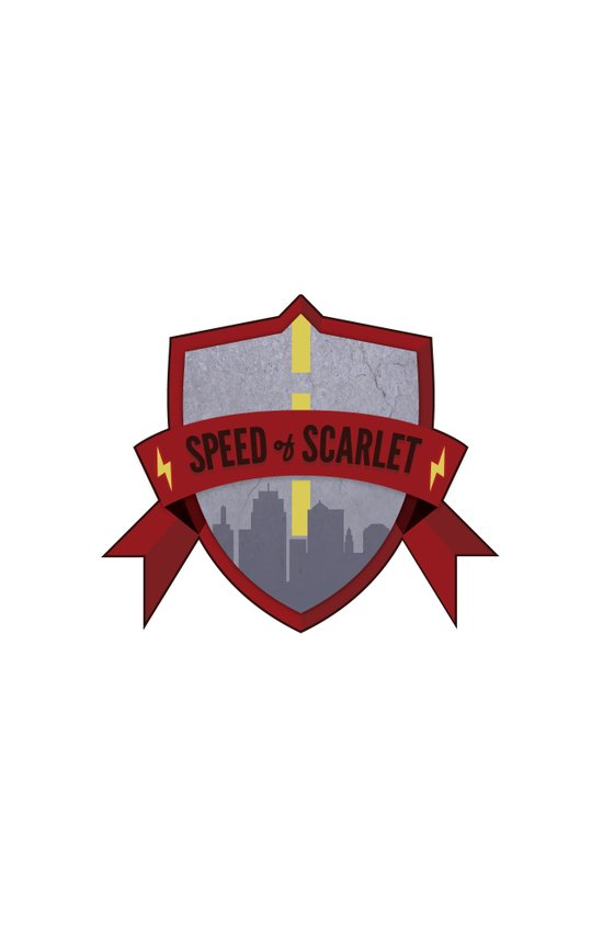 Speed of Scarlet Art Print