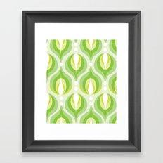 Green Dew Drops Framed Art Print