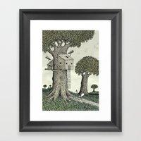 'Treehouse' Framed Art Print