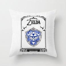 Zelda Legend - Hylian Sh… Throw Pillow