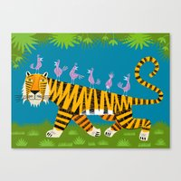 Tiger Transportation Canvas Print