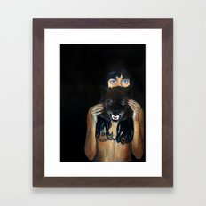 She was never very good at keeping a straight face Framed Art Print