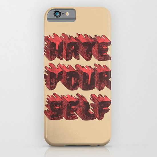 Hate Yourself iPhone & iPod Case
