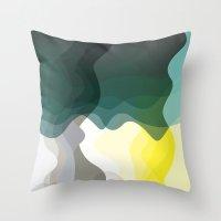 Green Lava Throw Pillow