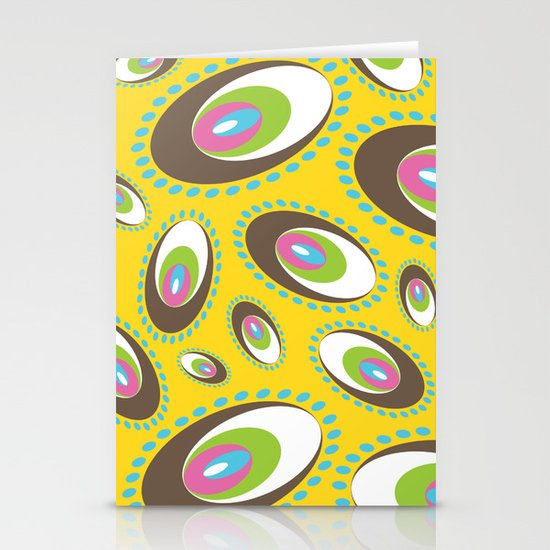 Ovoid Explosion Stationery Card