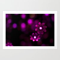 Electric Flowers (Purple… Art Print