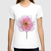 Pink Tree Peony Womens Fitted Tee White SMALL