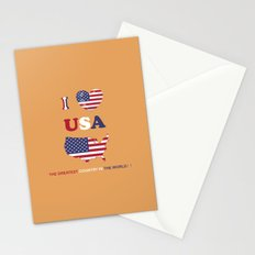I LOVE USA - THE GREATEST COUNTRY IN THE WORLD ! Stationery Cards