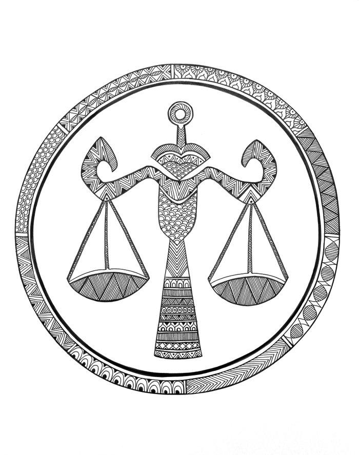 Zodiac Sign Libra Art Print by Neeti Goswami | Society6