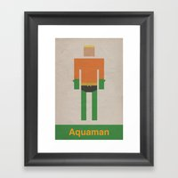 Retro Aquaman Framed Art Print