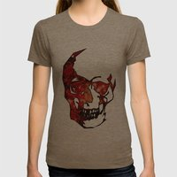 Dead Space II Womens Fitted Tee Tri-Coffee SMALL