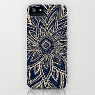 Cute Retro Gold Abstract… iPhone (5, 5s) Slim Case