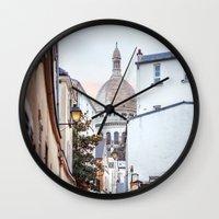 I love Montmartre, Paris. Wall Clock