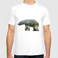 The Arctic Polar Bear Mens Fitted Tee White SMALL