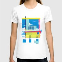 funky town Womens Fitted Tee White SMALL