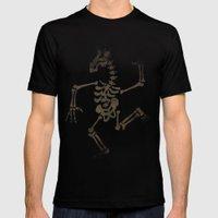 Skeleton Unicorn Dance 2 Mens Fitted Tee Black SMALL